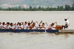 Paddle dragon boat Royalty Free Stock Image