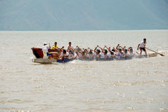 Paddle dragon boat Royalty Free Stock Photography