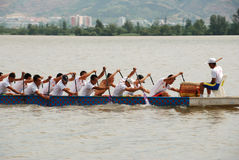 Paddle dragon boat Royalty Free Stock Image