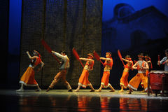 Paddle dragon boat-The first act of dance drama-Shawan events of the past Stock Image