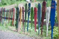 Paddle Fence Stock Image
