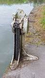 Paddle gear of lock on the Kennett and Avon Canal. Stock Image