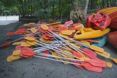 Paddle kajaki Obraz Royalty Free