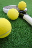 Paddle objects on turf Royalty Free Stock Image