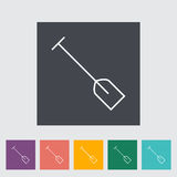 Paddle. Outline icon on the button. Vector illustration Stock Photography