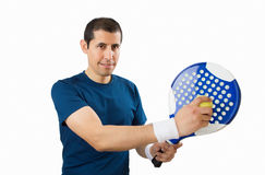 Paddle player on white background Stock Photo