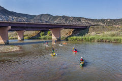 Paddle race on Colorado River Royalty Free Stock Photo