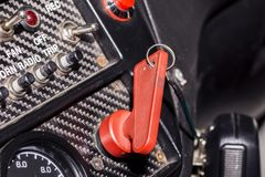 Paddle on the racing car panels Royalty Free Stock Images