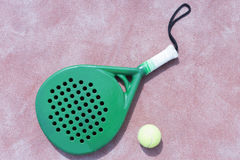 Paddle racket and ball Stock Photo