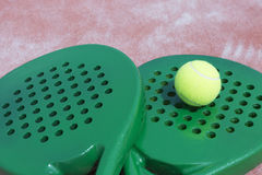Paddle rackets and ball Royalty Free Stock Photography