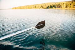 Paddle. On the river, fishing trip Royalty Free Stock Photo