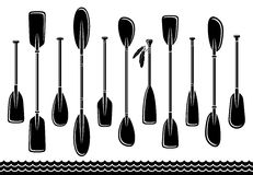 Paddle set. Vector. Illustration vector canoe Royalty Free Stock Photos