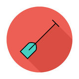 Paddle. Single flat color icon on the circle. Vector illustration Stock Photography