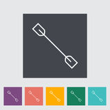 Paddle. Single flat icon on the button. Vector illustration Stock Image