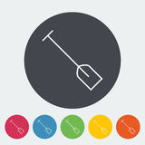 Paddle. Single flat icon on the button. Vector illustration Stock Photos