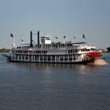 Paddle steamer. On Mississippi River New Orleans Stock Images