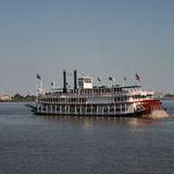 Paddle steamer. On Mississippi River New Orleans Royalty Free Stock Images