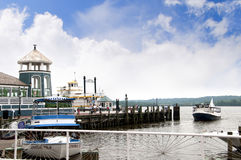 Paddle steamer on the Banks of the Potomac River in Alexandria in Virginia USA Stock Images