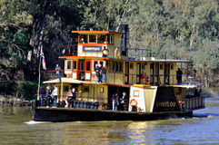 Paddle Steamer EMMYLOU, Port of Echuca, The Murray River, Victoria, Australia Stock Images