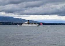 Paddle steamer of Geneva Lake Stock Photos