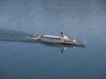 Steam Boat on Lake Geneva Royalty Free Stock Photos