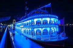 Paddle steamer Louisiana Star at Landungsbrucken pier stock image