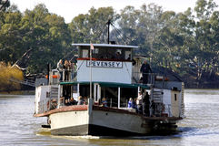 Paddle Steamer PEVENSEY, Port of Echuca, Victoria, Australia Stock Photo
