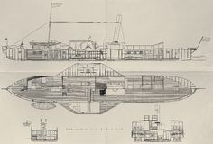 Paddle steamer plan Stock Photos
