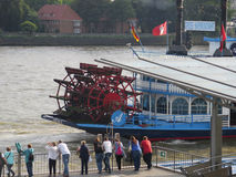 Paddle steamer on River Elbe Royalty Free Stock Images