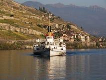 Steam Ship on Lake Geneva Stock Photos