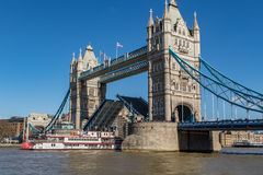 Paddle Steamer and Tower Bridge Stock Image