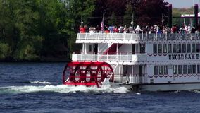 Paddle Steamers, Paddle Boats, River Boats stock video footage