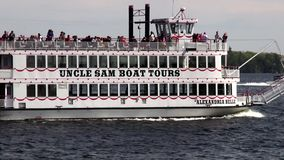 Paddle Steamers, Paddle Boats, River Boats stock video