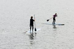 Paddle surf Stock Image