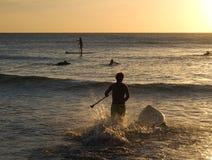 Paddle surfer Stock Photo