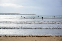 Paddle surfers Royalty Free Stock Photos
