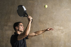Paddle tenis player Royalty Free Stock Image
