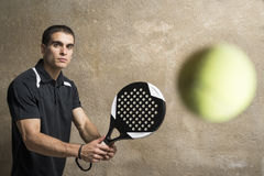 Paddle tenis player Royalty Free Stock Images