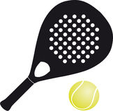 Paddle - Tennis. Paddle racket and ball items Royalty Free Stock Photography