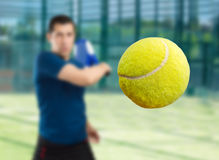 Paddle tennis ball Royalty Free Stock Photos