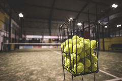Paddle tennis basket Stock Photo