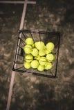 Paddle tennis basket Royalty Free Stock Image