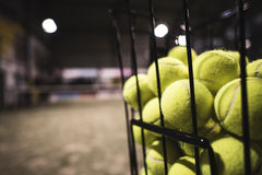 Paddle tennis basket Stock Images