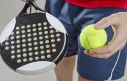 Paddle tennis Close up Stock Images