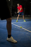 Paddle tennis copule Stock Photo