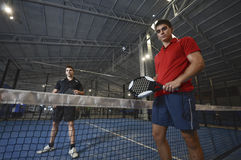 Paddle tennis couple Royalty Free Stock Images