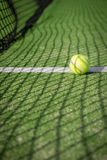 Paddle tennis court and net with a ball Royalty Free Stock Photos
