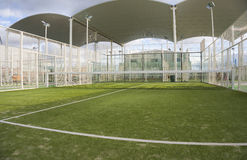 Paddle tennis court. Wide angle image of a paddle tennis court Stock Photography
