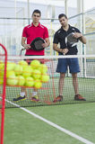 Paddle tennis firiends Stock Images
