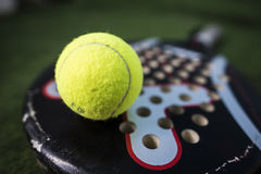 Paddle tennis macro wide angle Royalty Free Stock Photos